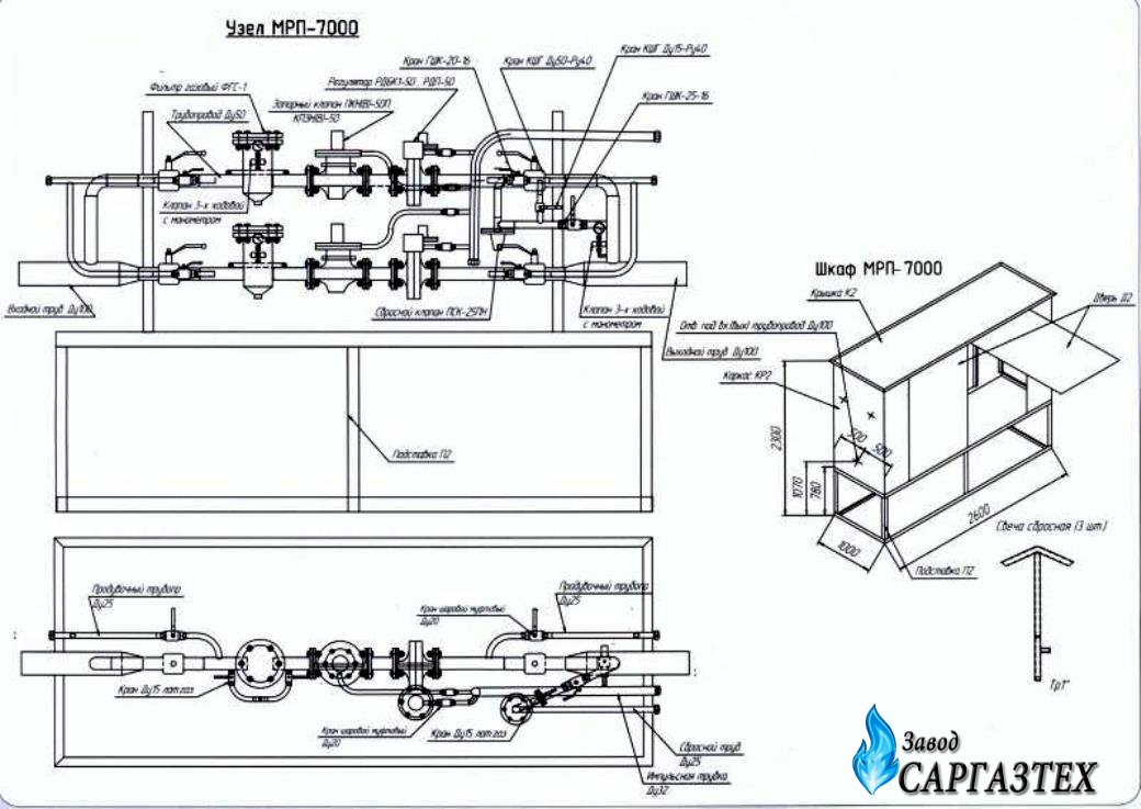 МРП-7000 с регуляторами РДП-80Н